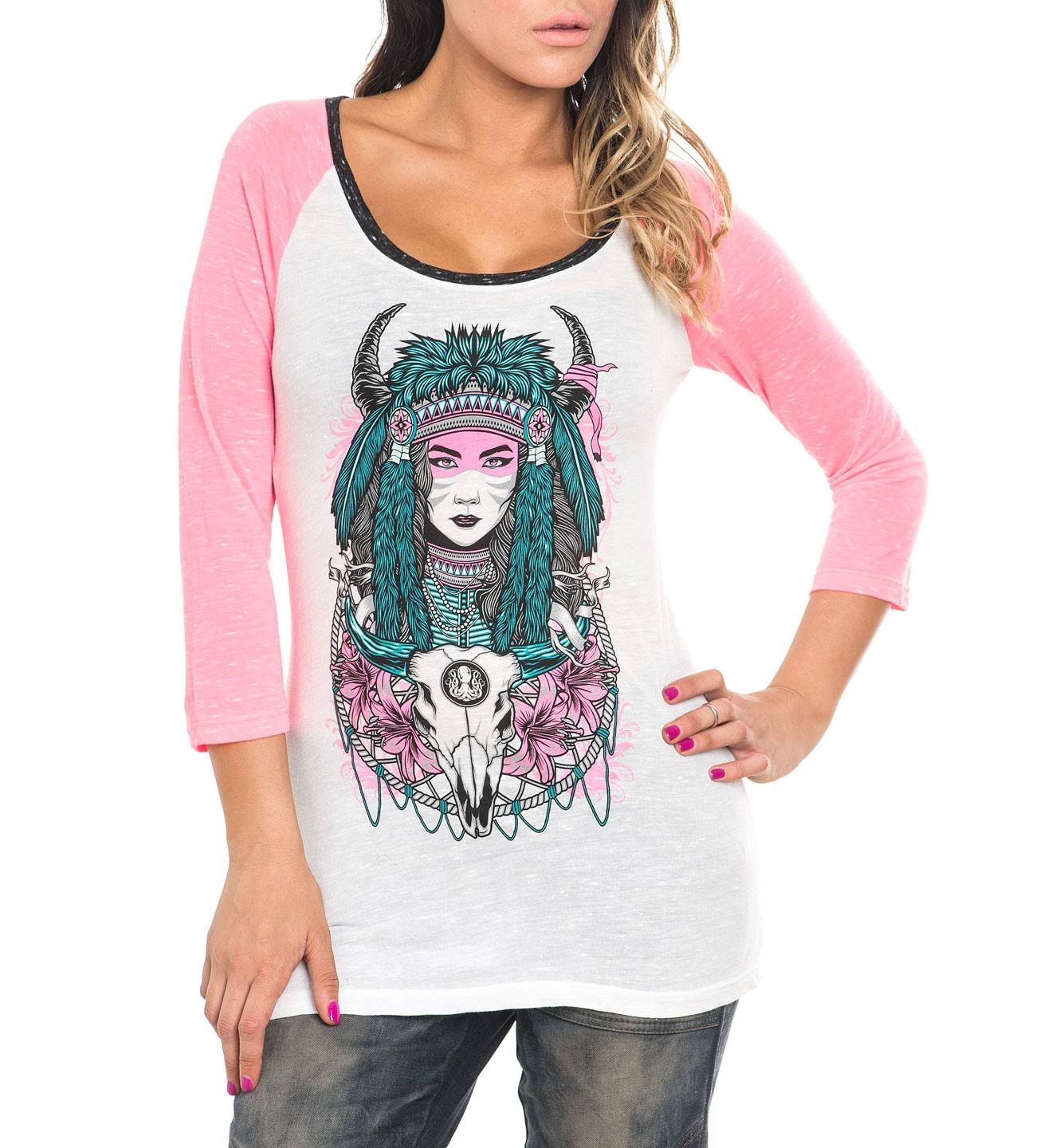 Bull Head - Womens Long Sleeve Tees - Affliction Clothing