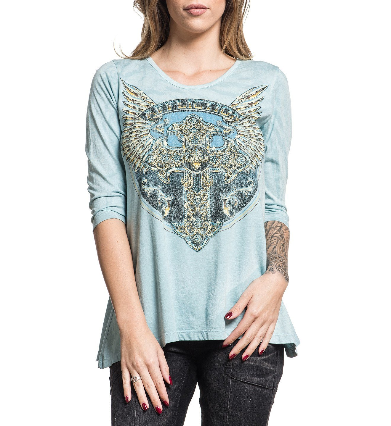 Womens Long Sleeve Tees - Congregation Chrome