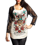 Womens Long Sleeve Tees - Divine Roses