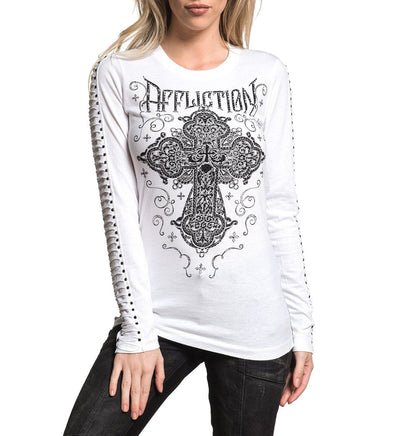 Eastwood Blossom - Womens Long Sleeve Tees - Affliction Clothing