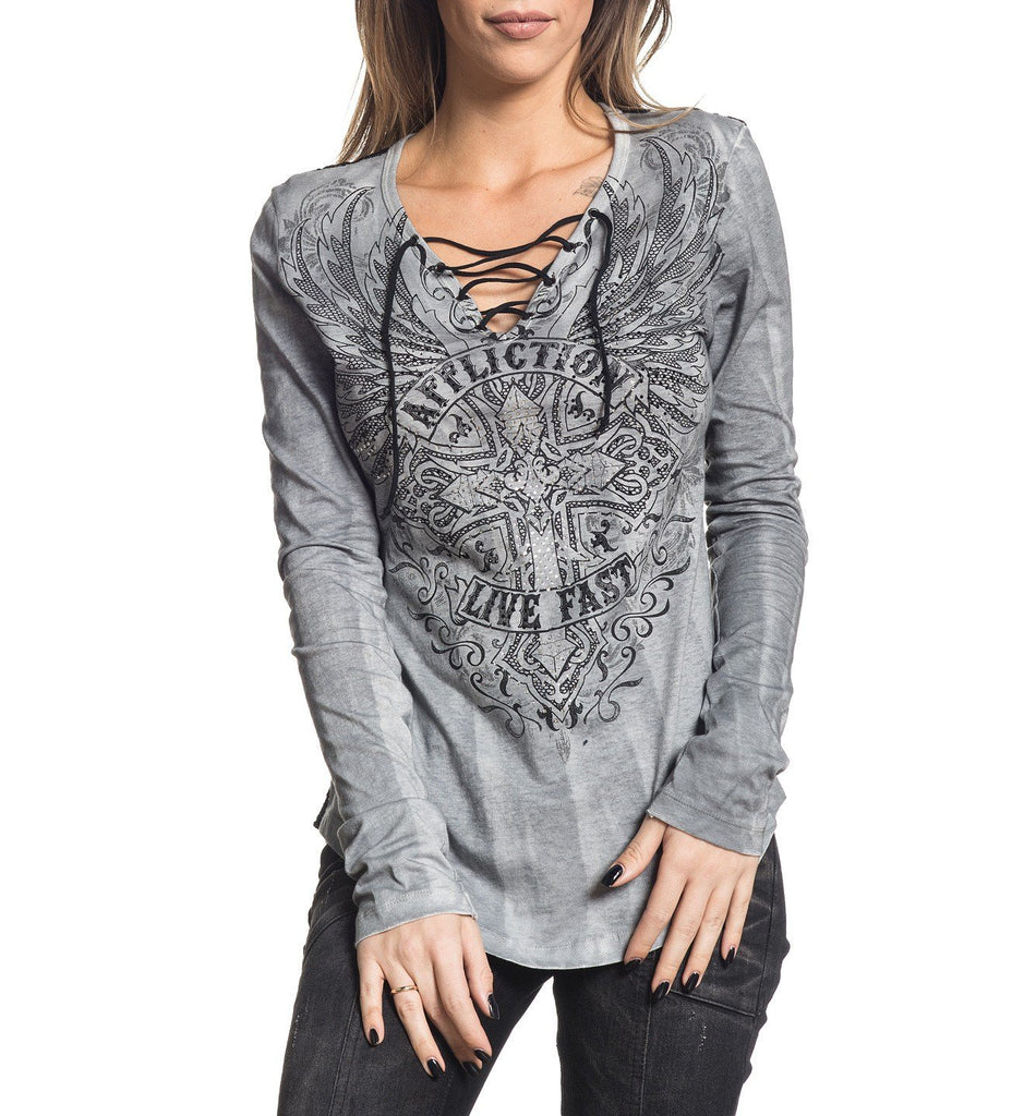 Womens Long Sleeve Tees - Edenberry Cross