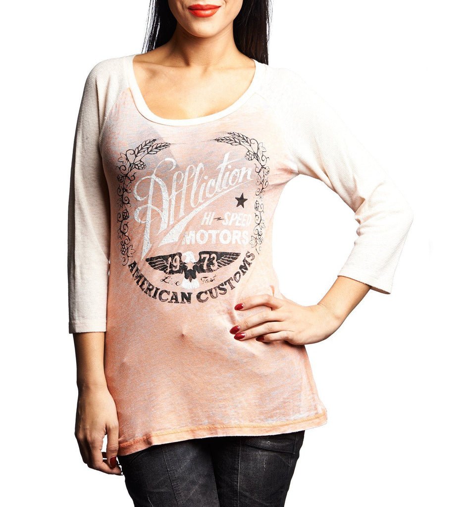 Womens Long Sleeve Tees - Fast Times
