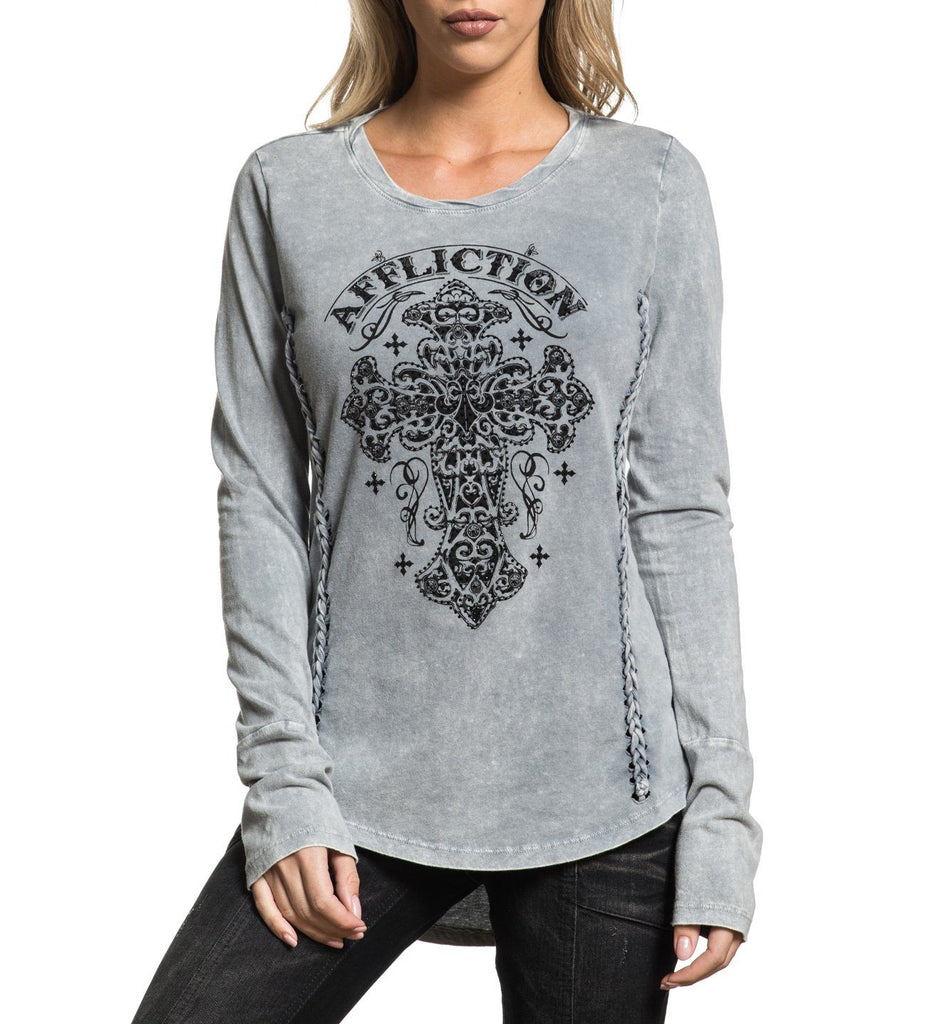 Womens Long Sleeve Tees - Hail Mary