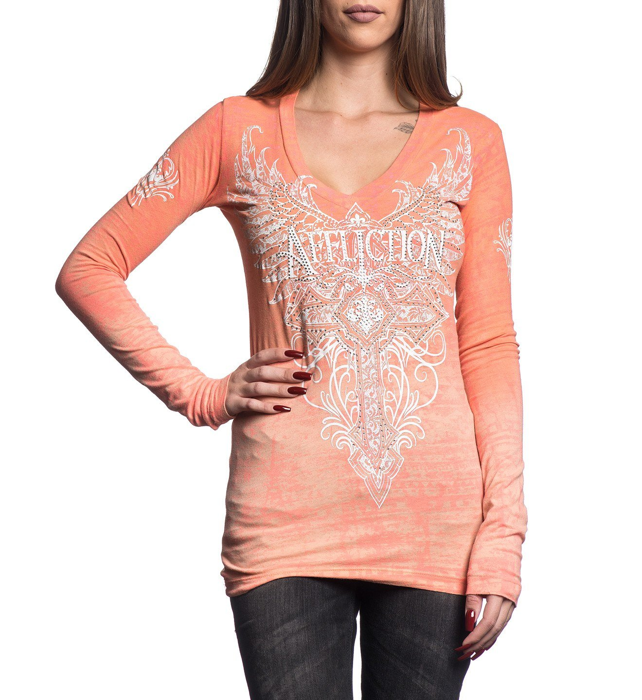 Lorielle - Womens Long Sleeve Tees - Affliction Clothing