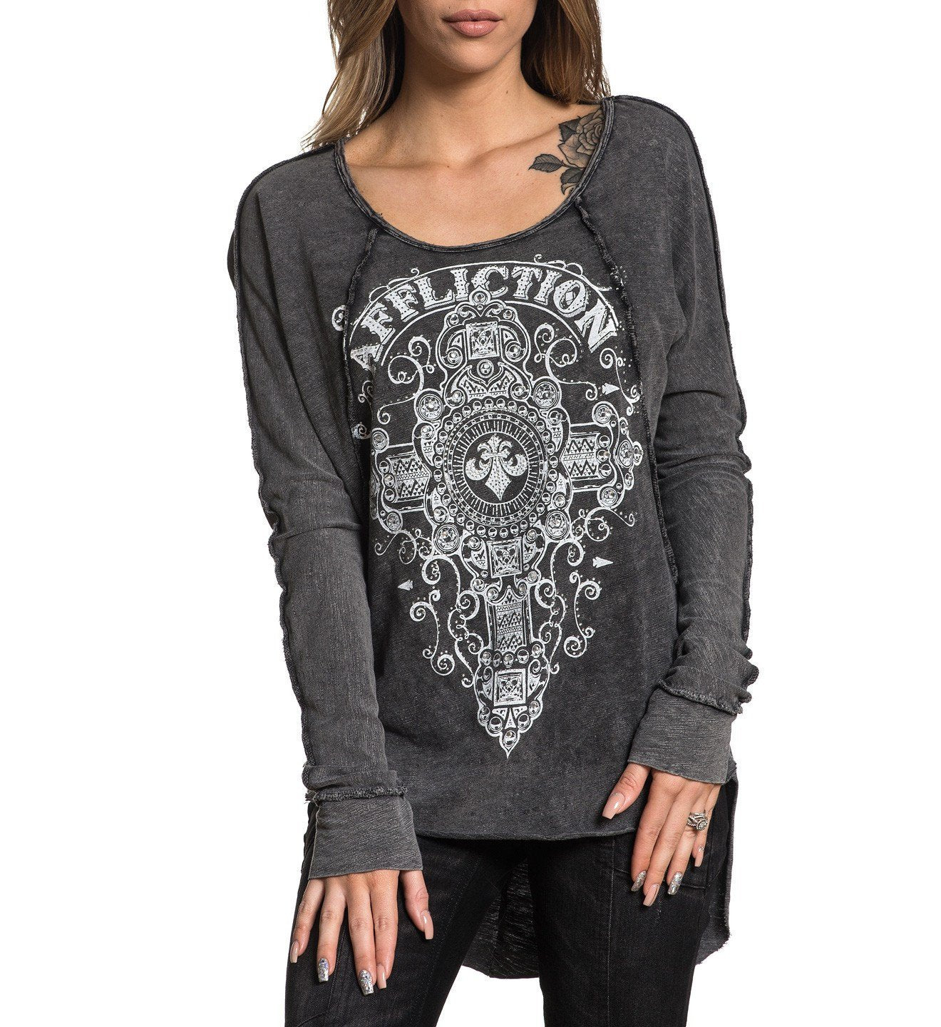 Marquis - Womens Long Sleeve Tees - Affliction Clothing