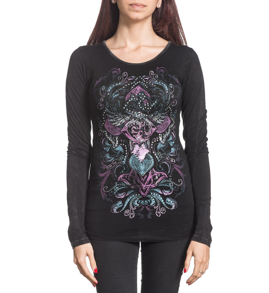 Womens Long Sleeve Tees - Melody Lane