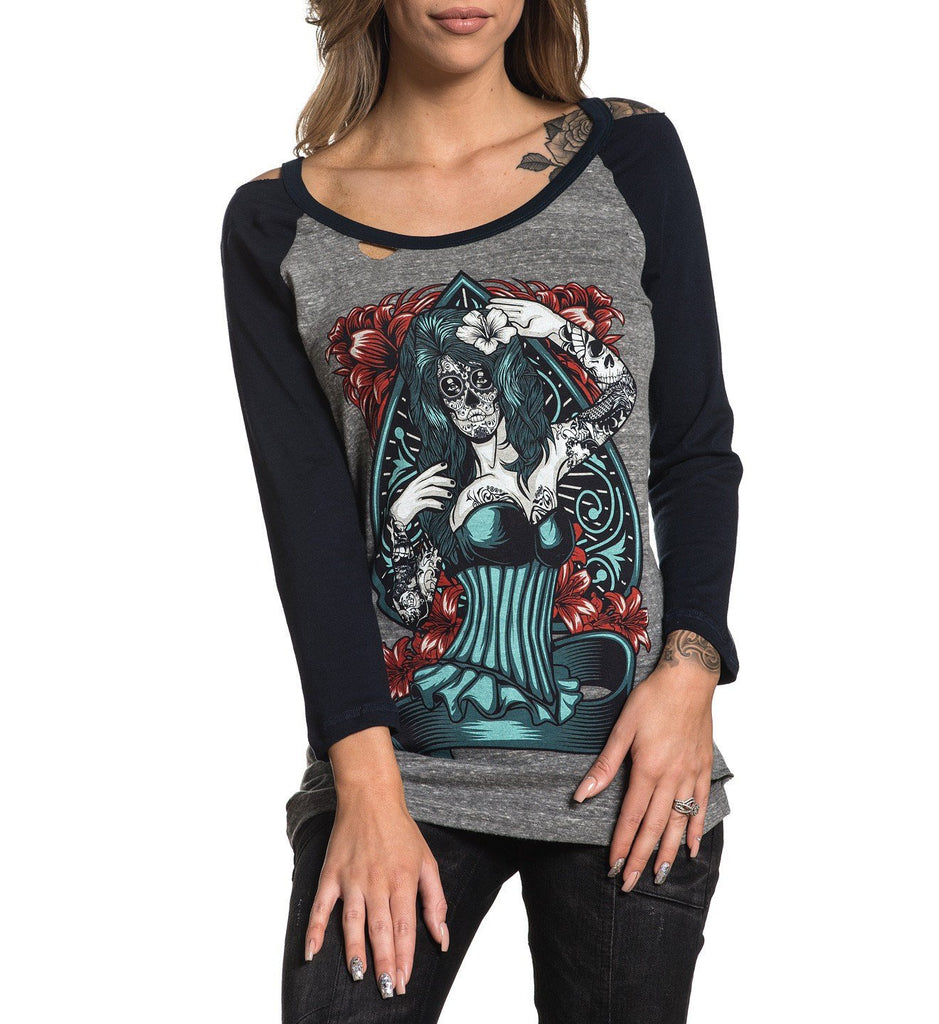 Womens Long Sleeve Tees - Naughty