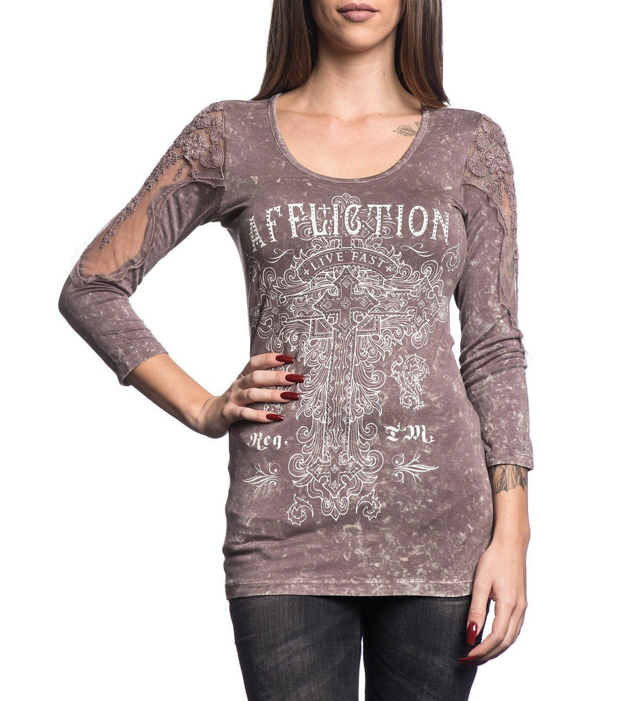 Womens Long Sleeve Tees - Olive