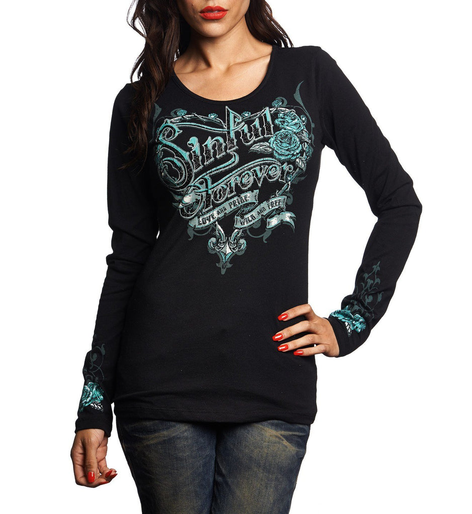 Womens Long Sleeve Tees - Parlour