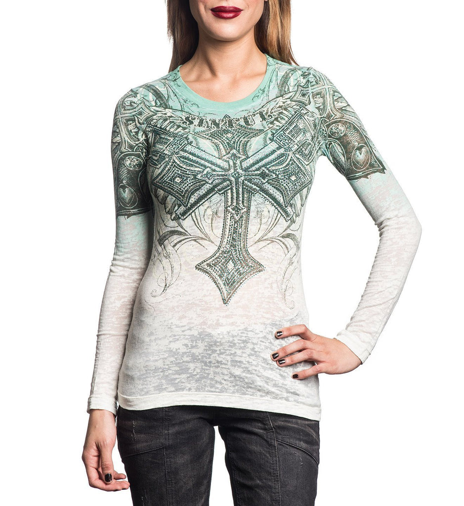 Womens Long Sleeve Tees - Priscilla