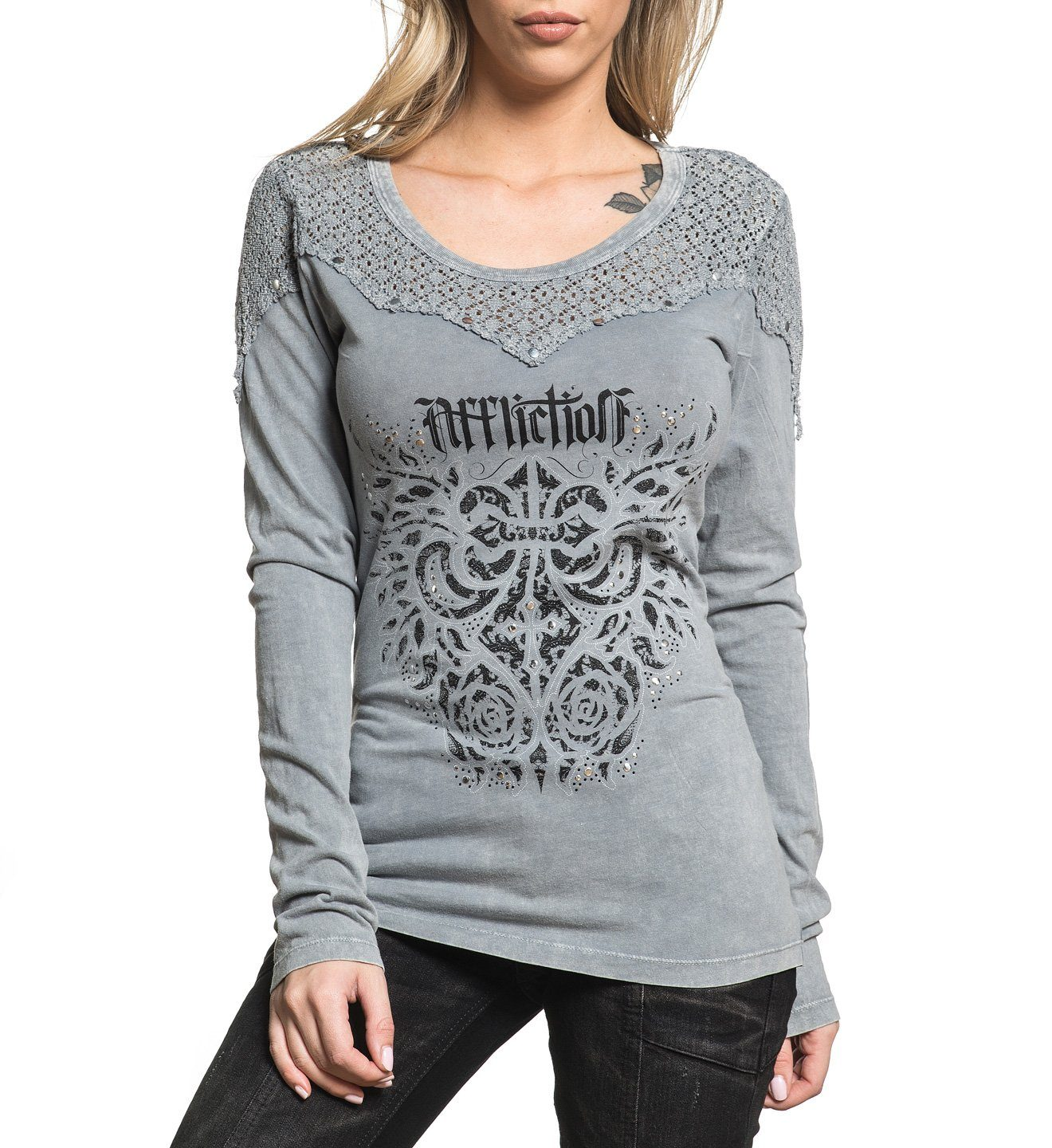 Sauvignon - Womens Long Sleeve Tees - Affliction Clothing