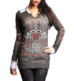 Womens Long Sleeve Tees - Sistine Reversible