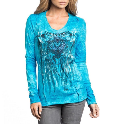 Womens Long Sleeve Tees - The Raven