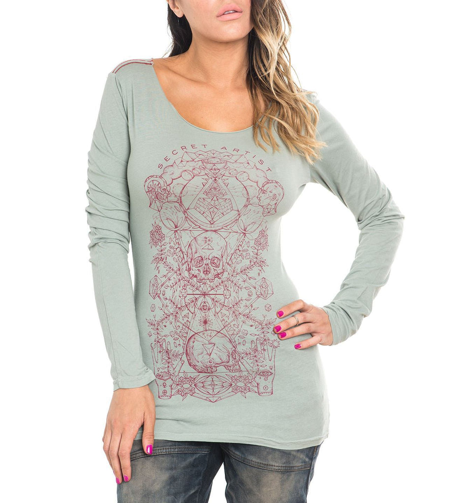 Womens Long Sleeve Tees - Time Changes