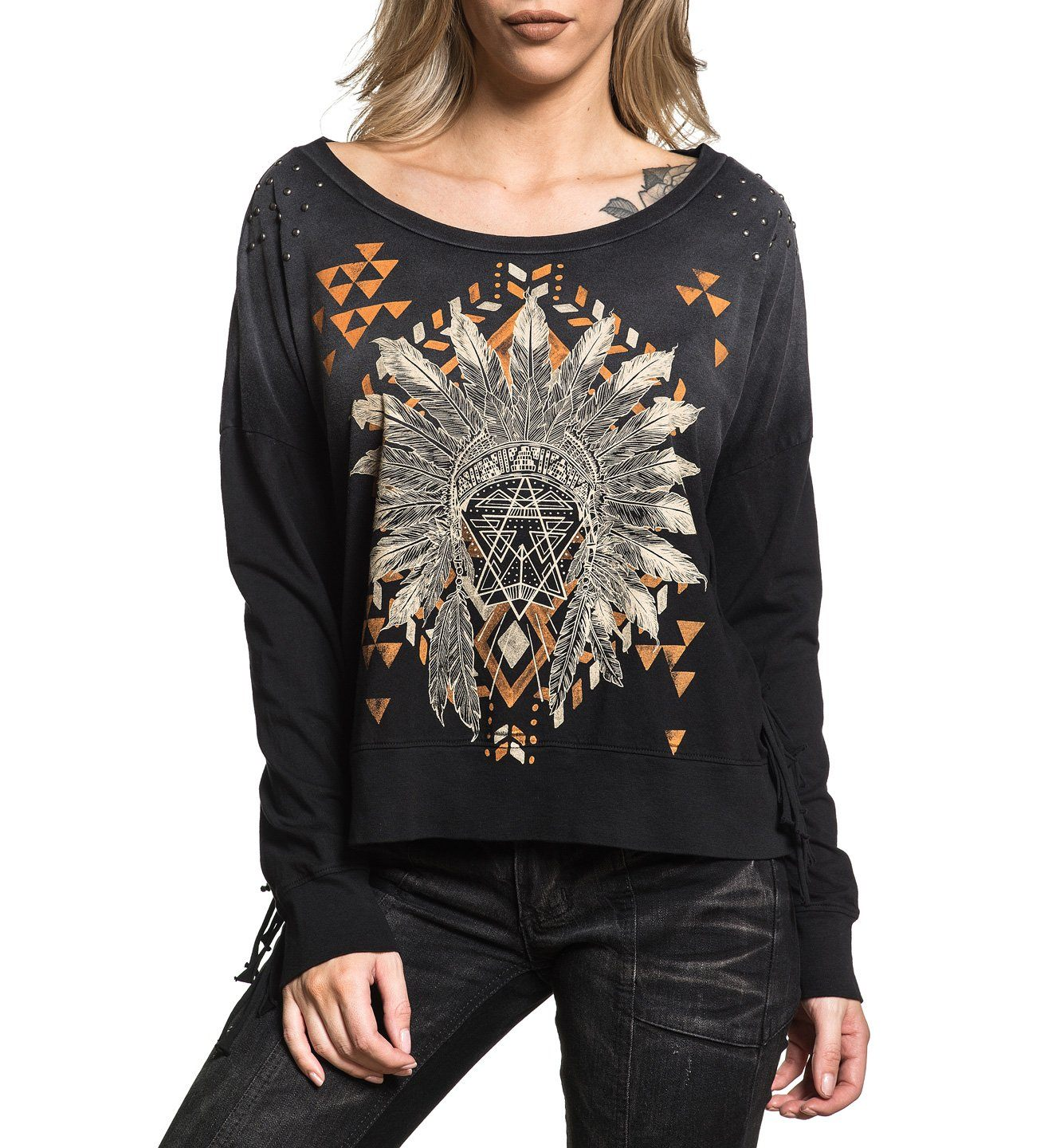 Trailhead - Womens Long Sleeve Tees - Affliction Clothing