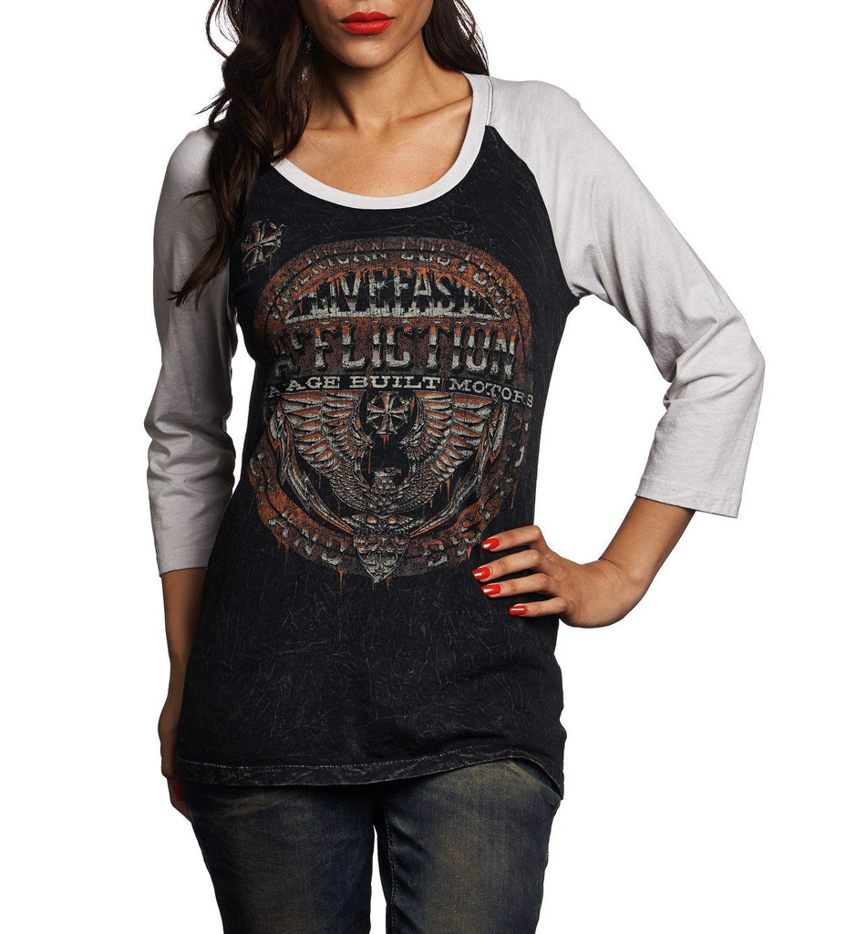 Womens Long Sleeve Tees - Union Chrome
