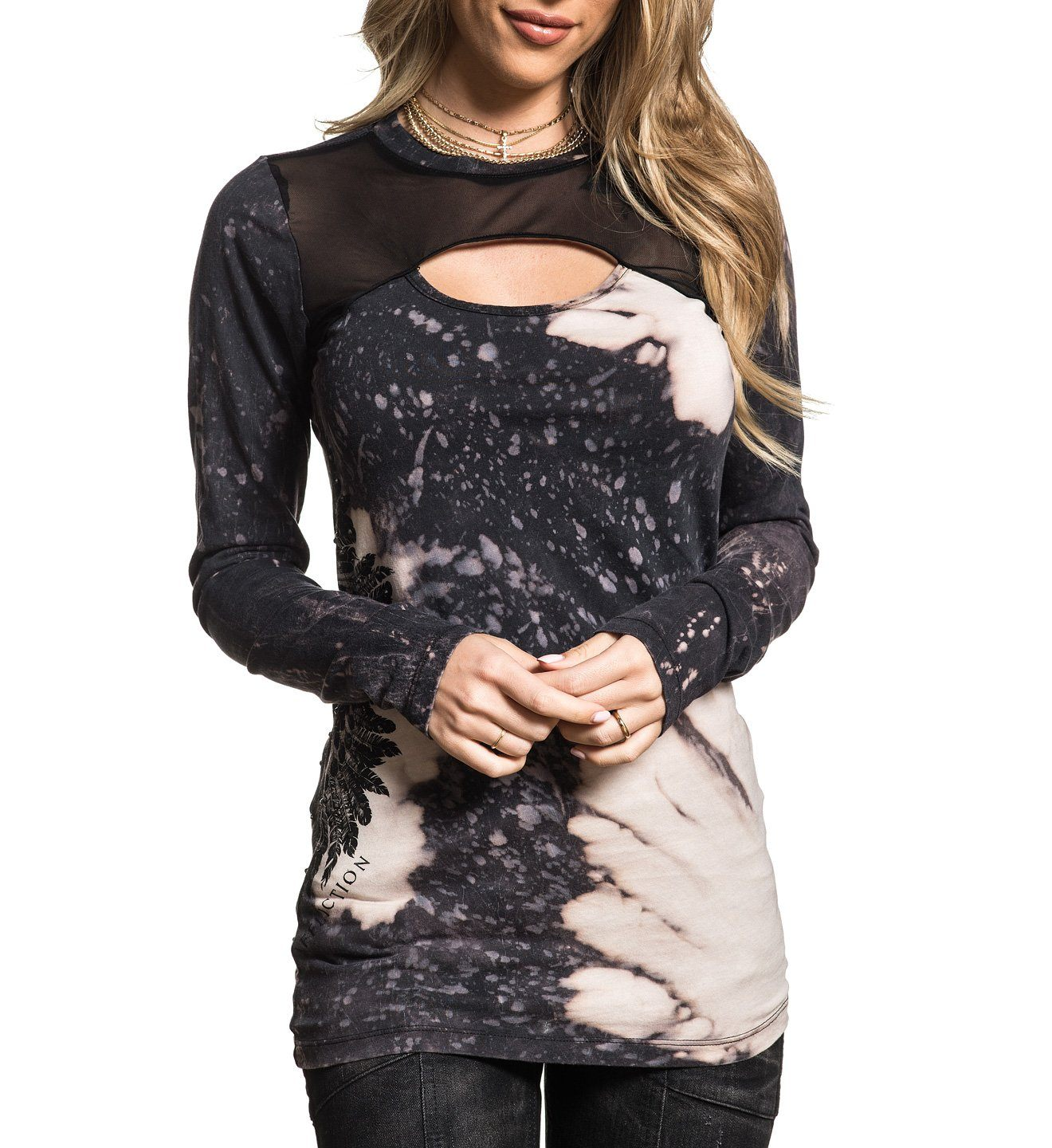 Womens Long Sleeve Tees - Wing