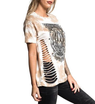 A Frame - Womens Short Sleeve Tees - Affliction Clothing