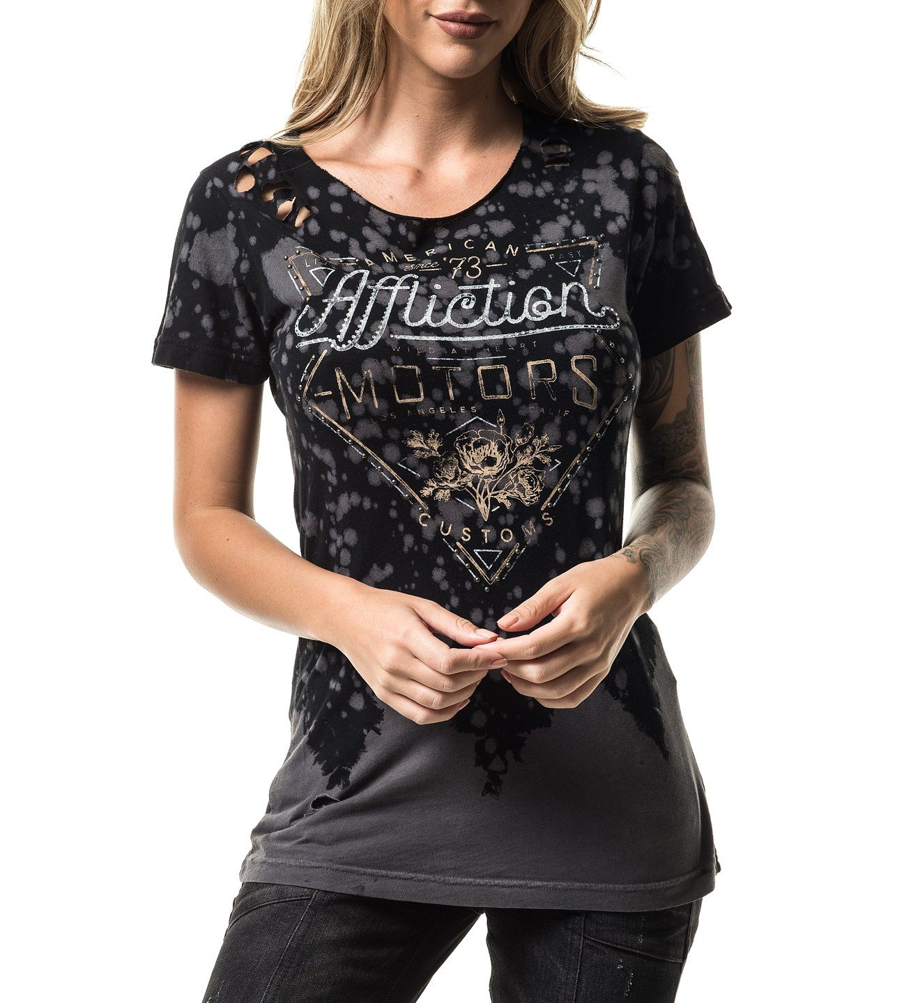 Ac Cali Fresh - Womens Short Sleeve Tees - Affliction Clothing