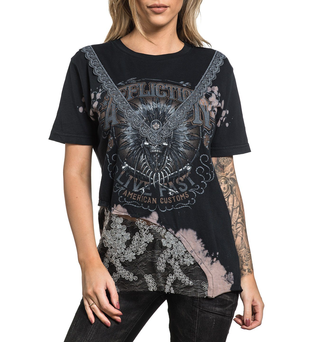 AC Molten Tribe - Womens Short Sleeve Tees - Affliction Clothing