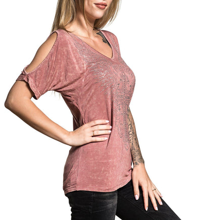 Amberelle Diamonds - Womens Short Sleeve Tees - Affliction Clothing