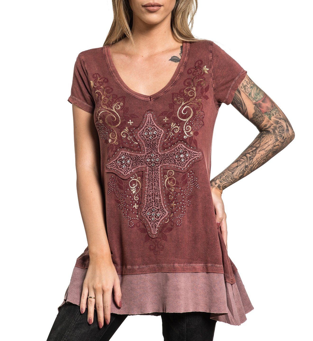Ariana - Womens Short Sleeve Tees - Affliction Clothing