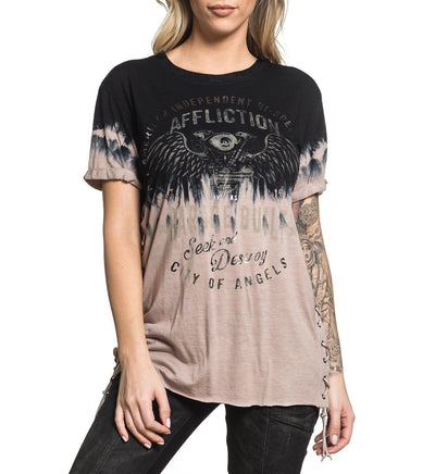 Barn Find - Womens Short Sleeve Tees - Affliction Clothing