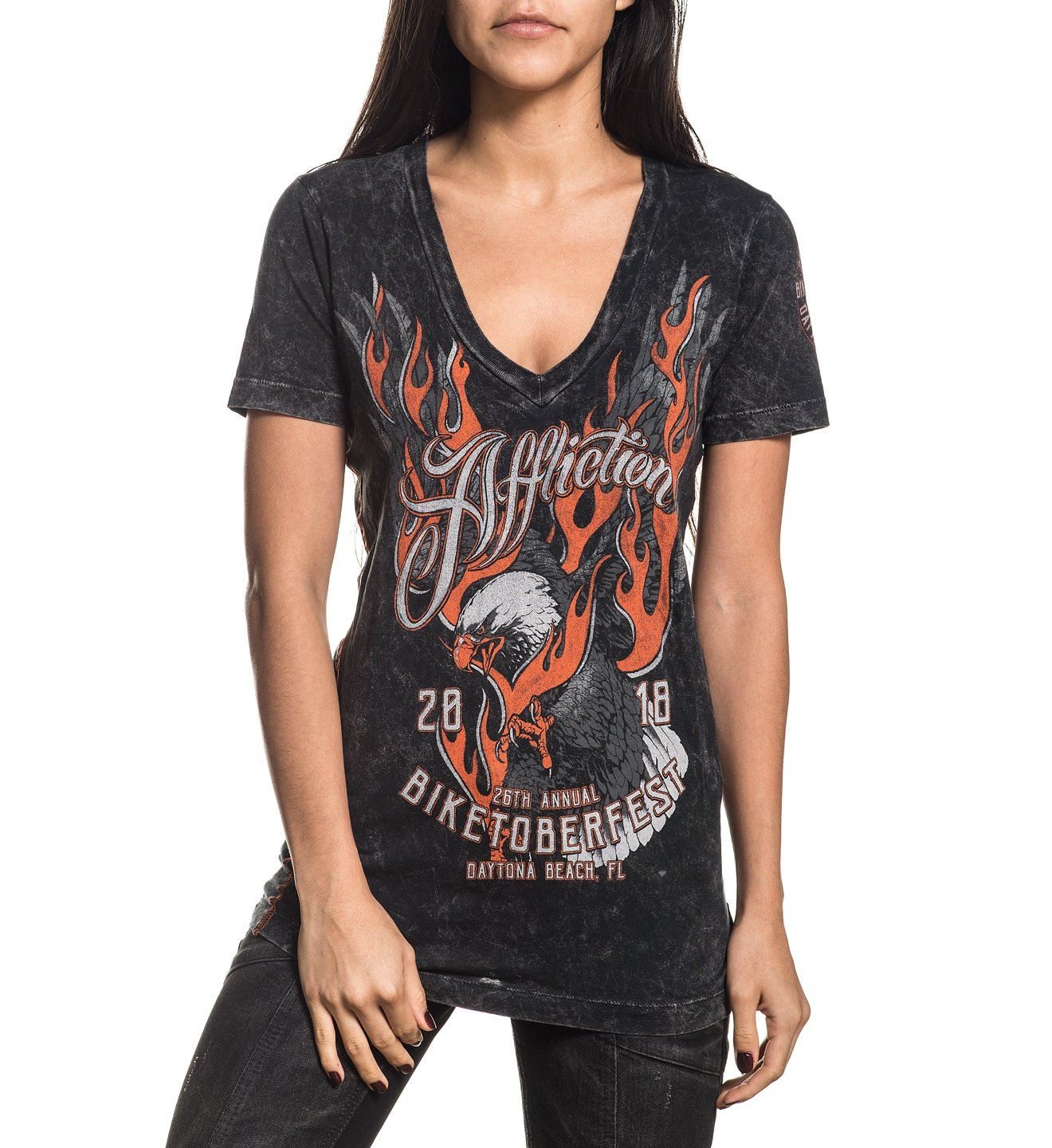 Womens Short Sleeve Tees - Biketoberfest 2018