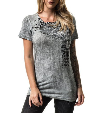 Brixton Wings - Womens Short Sleeve Tees - Affliction Clothing