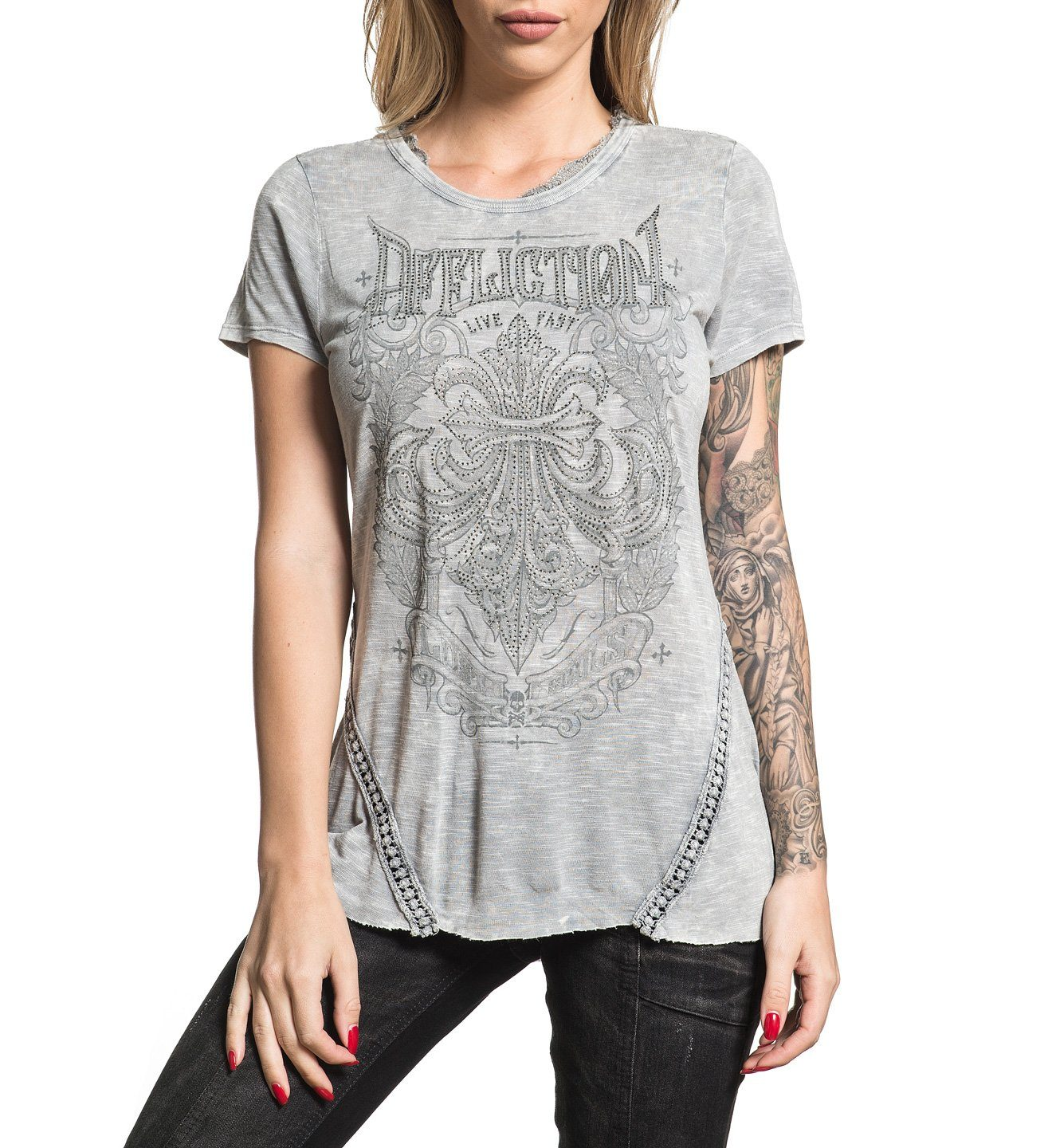 Corroded - Womens Short Sleeve Tees - Affliction Clothing
