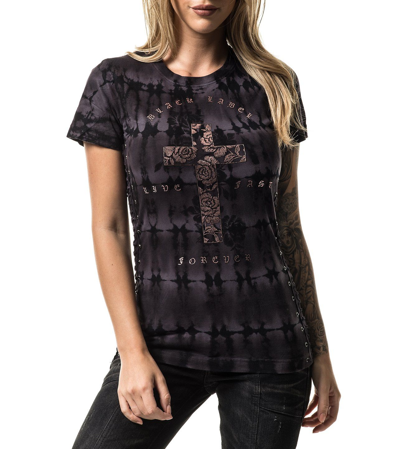 Cross Of Souls - Womens Short Sleeve Tees - Affliction Clothing