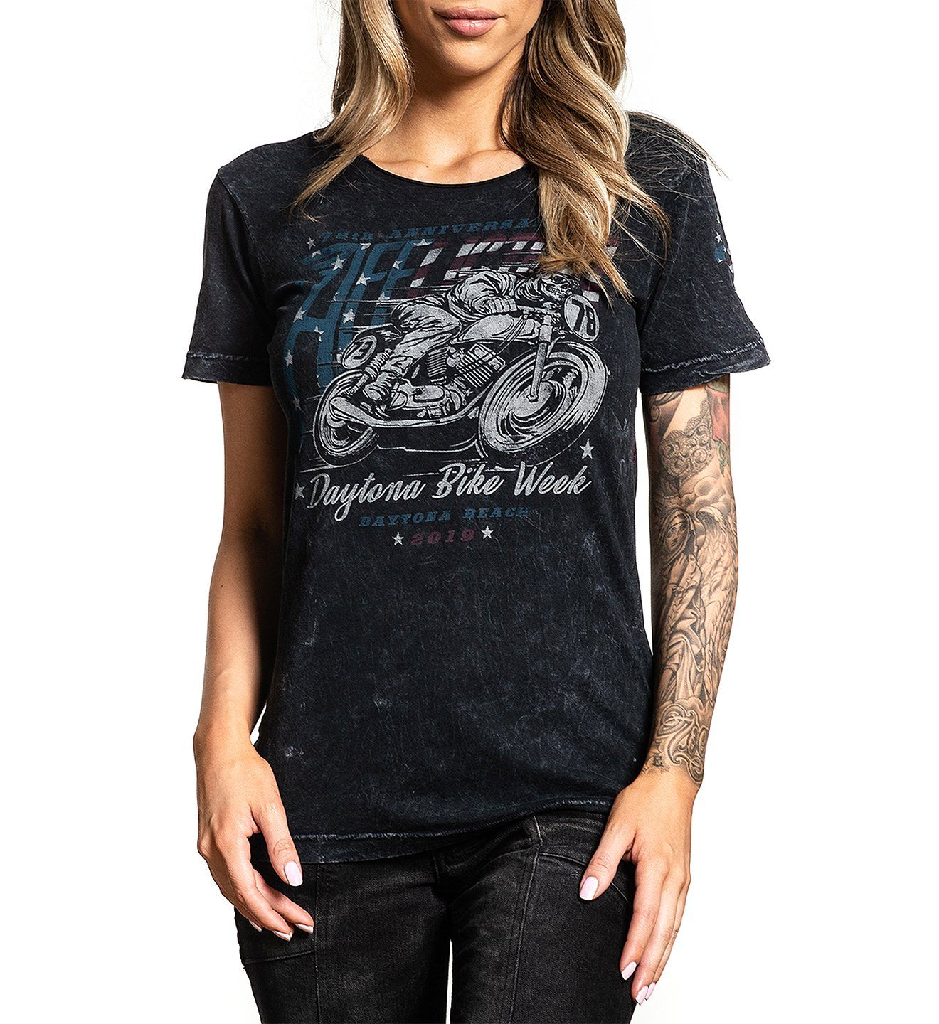 Daytona 2019 - Womens Short Sleeve Tees - Affliction Clothing