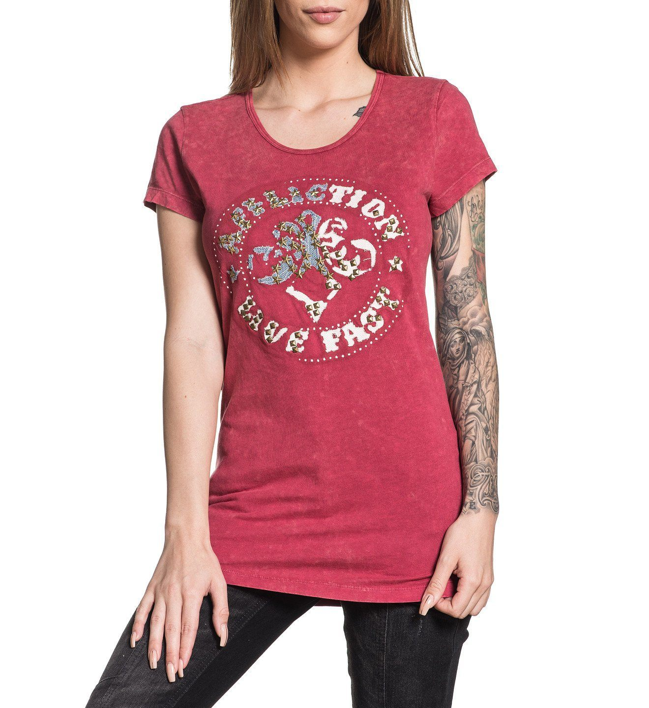 Womens Short Sleeve Tees - Divio Patchwork