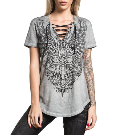 Edenberry Cross - Womens Short Sleeve Tees - Affliction Clothing