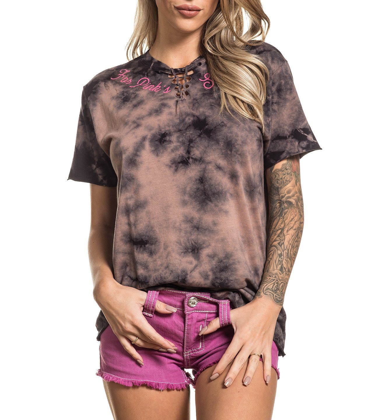 For Pink's Sake - Womens Short Sleeve Tees - Affliction Clothing