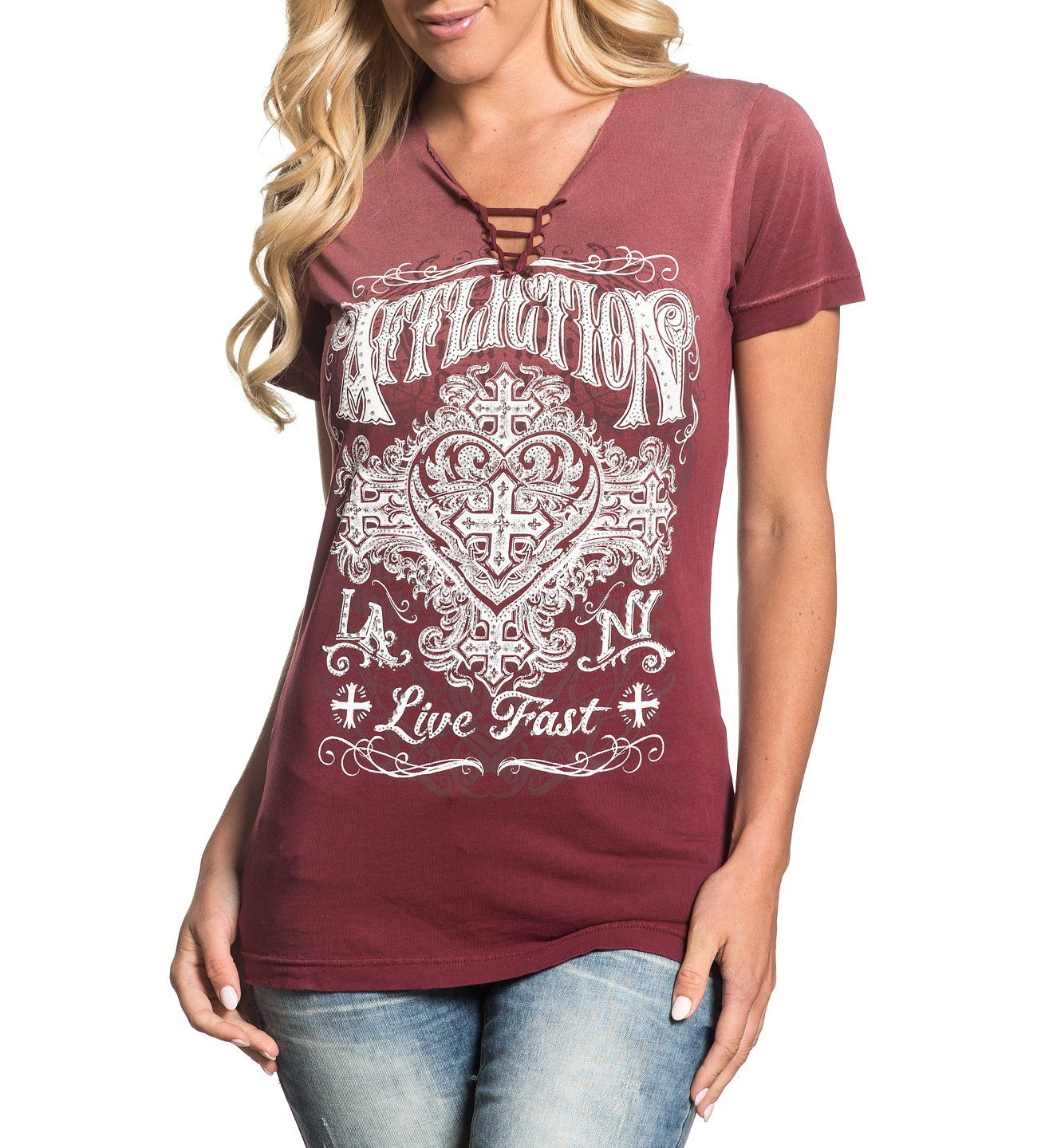 Ink - Womens Short Sleeve Tees - Affliction Clothing