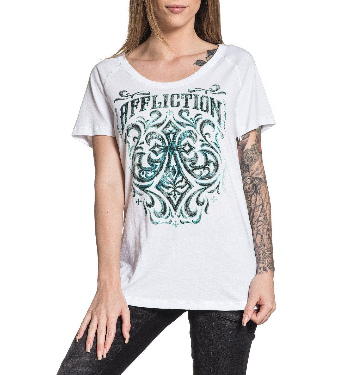 Ironside - Womens Short Sleeve Tees - Affliction Clothing