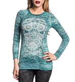 Womens Short Sleeve Tees - Jade Skull
