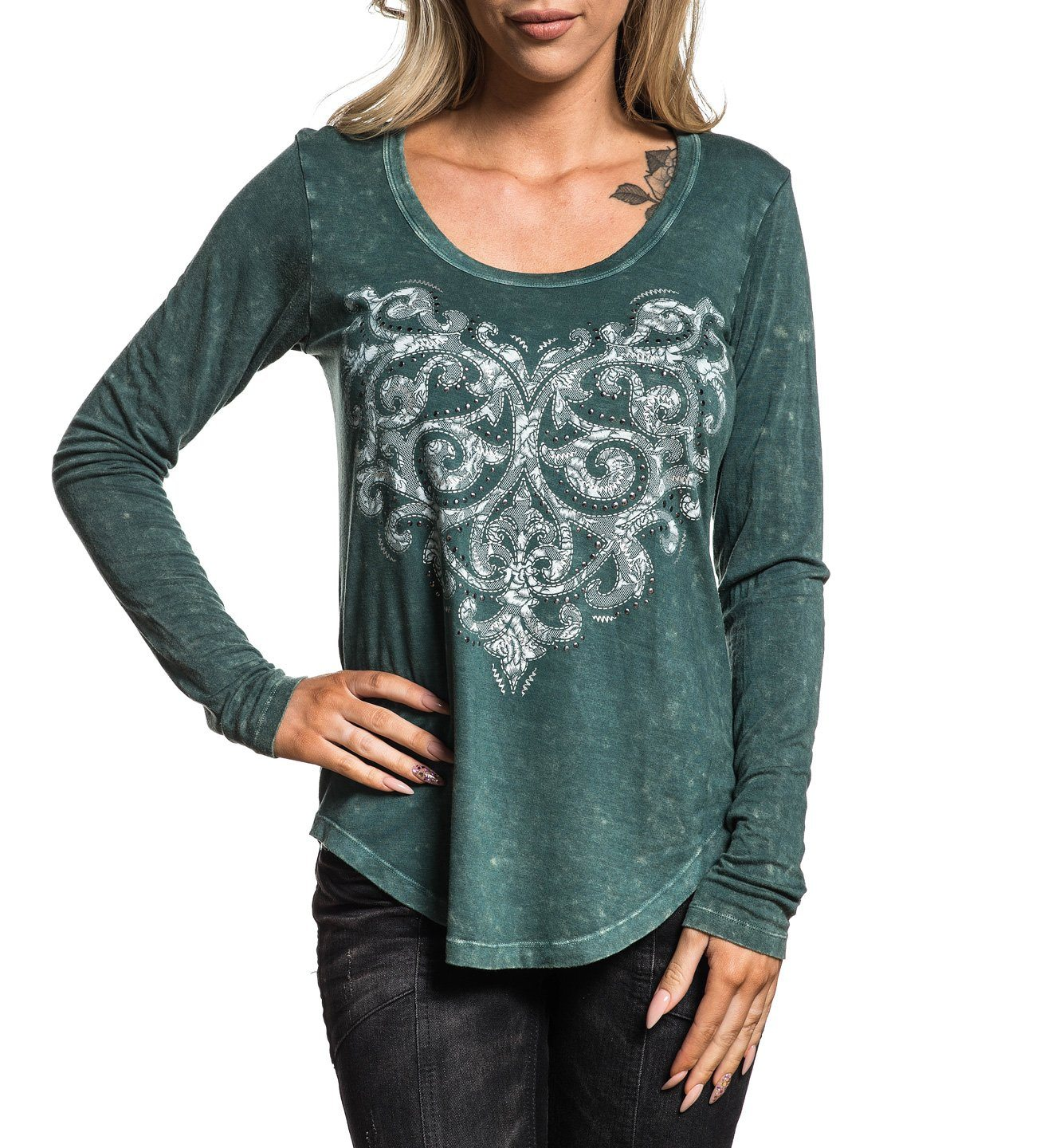 Lighten - Womens Short Sleeve Tees - Affliction Clothing