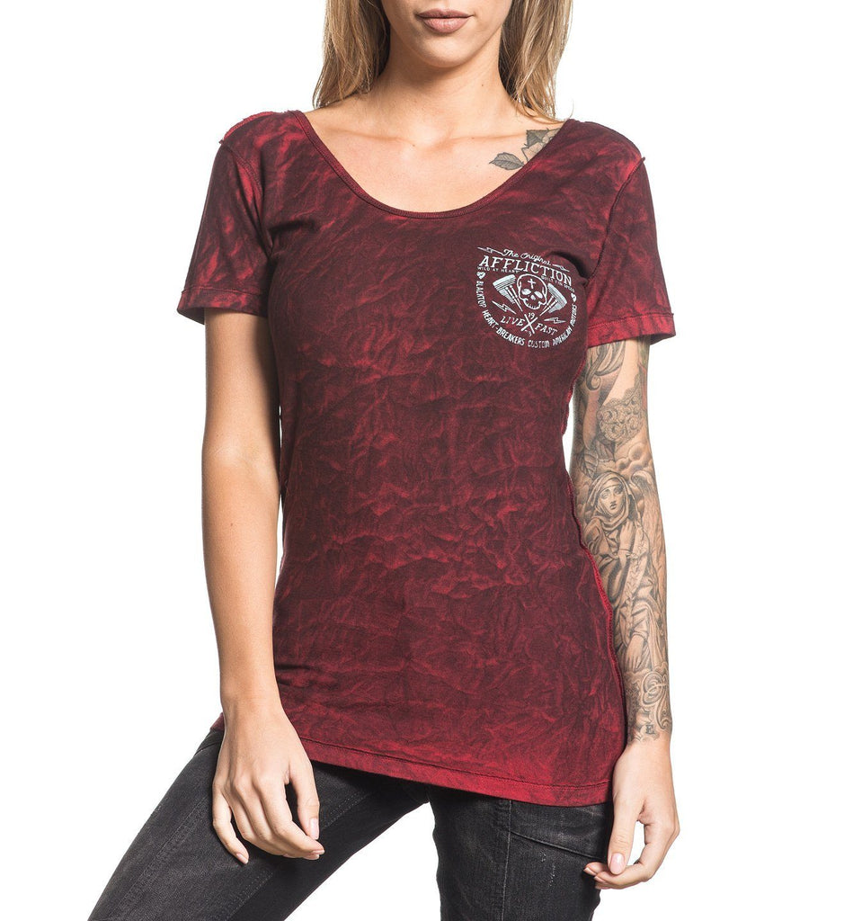 Womens Short Sleeve Tees - Los Lobos - Reversible