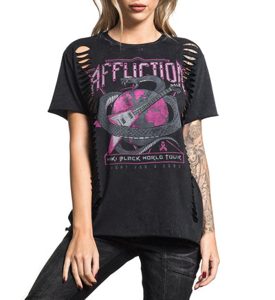 Miki Black - Signature Series Tee - Womens Short Sleeve Tees - Affliction Clothing