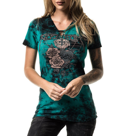 Outlaw Tour - Womens Short Sleeve Tees - Affliction Clothing