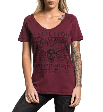 Ride Free - Womens Short Sleeve Tees - Affliction Clothing
