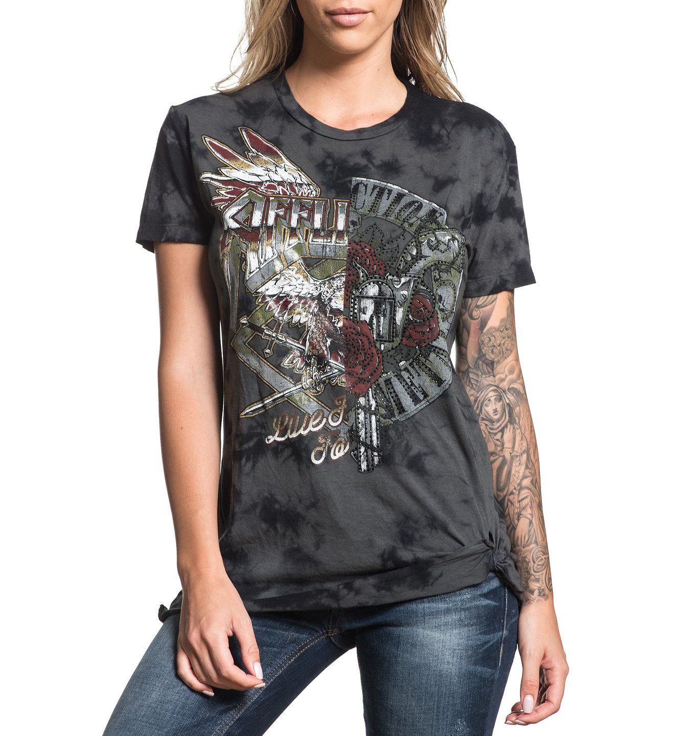 Womens Short Sleeve Tees - Roadie Split