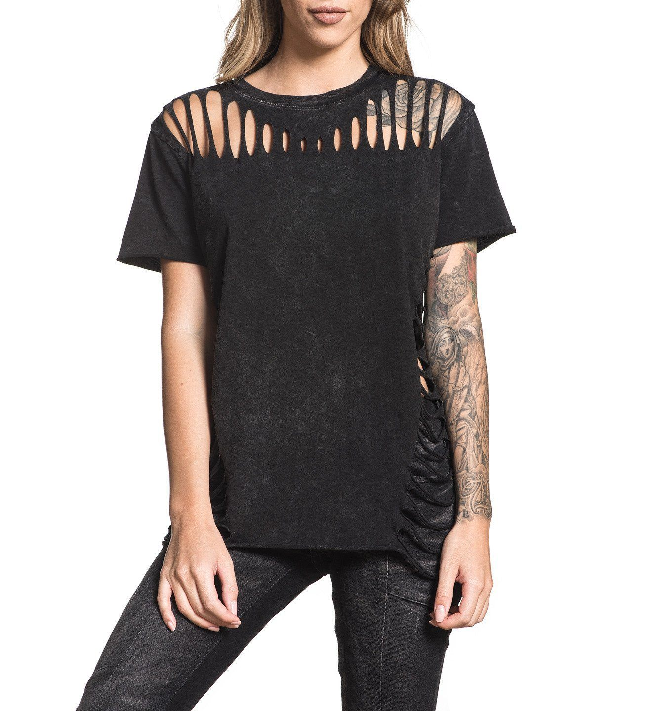 Standard Supply W-031 - Womens Short Sleeve Tees - Affliction Clothing