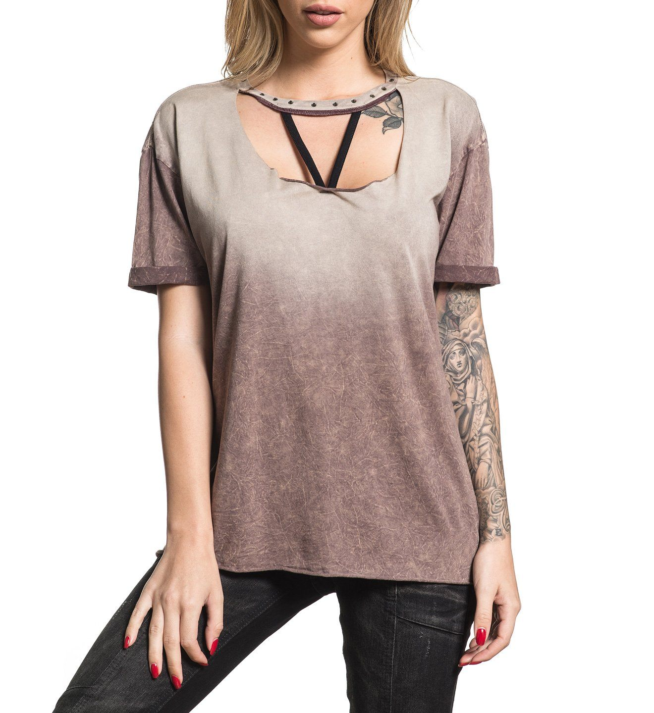 Standard Supply W-032 - Womens Short Sleeve Tees - Affliction Clothing