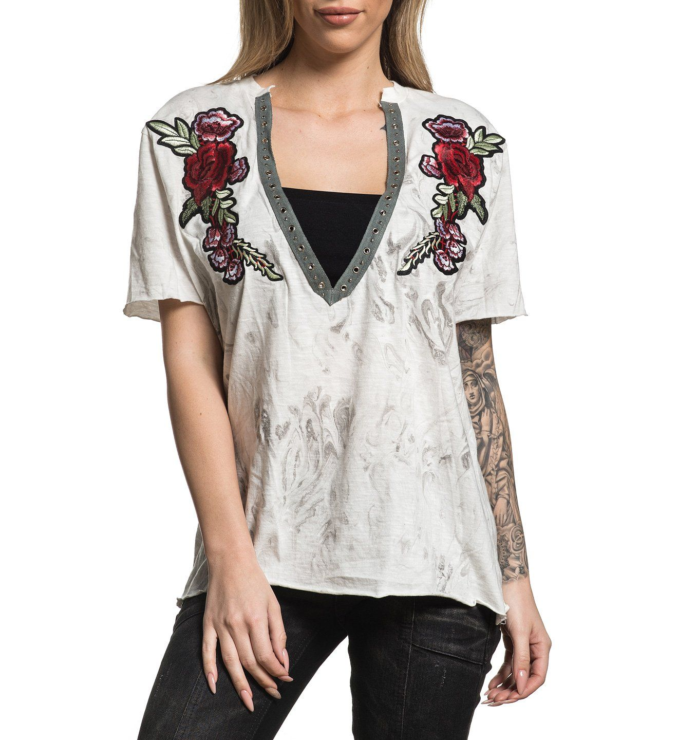 Standard Supply W-105 - Womens Short Sleeve Tees - Affliction Clothing