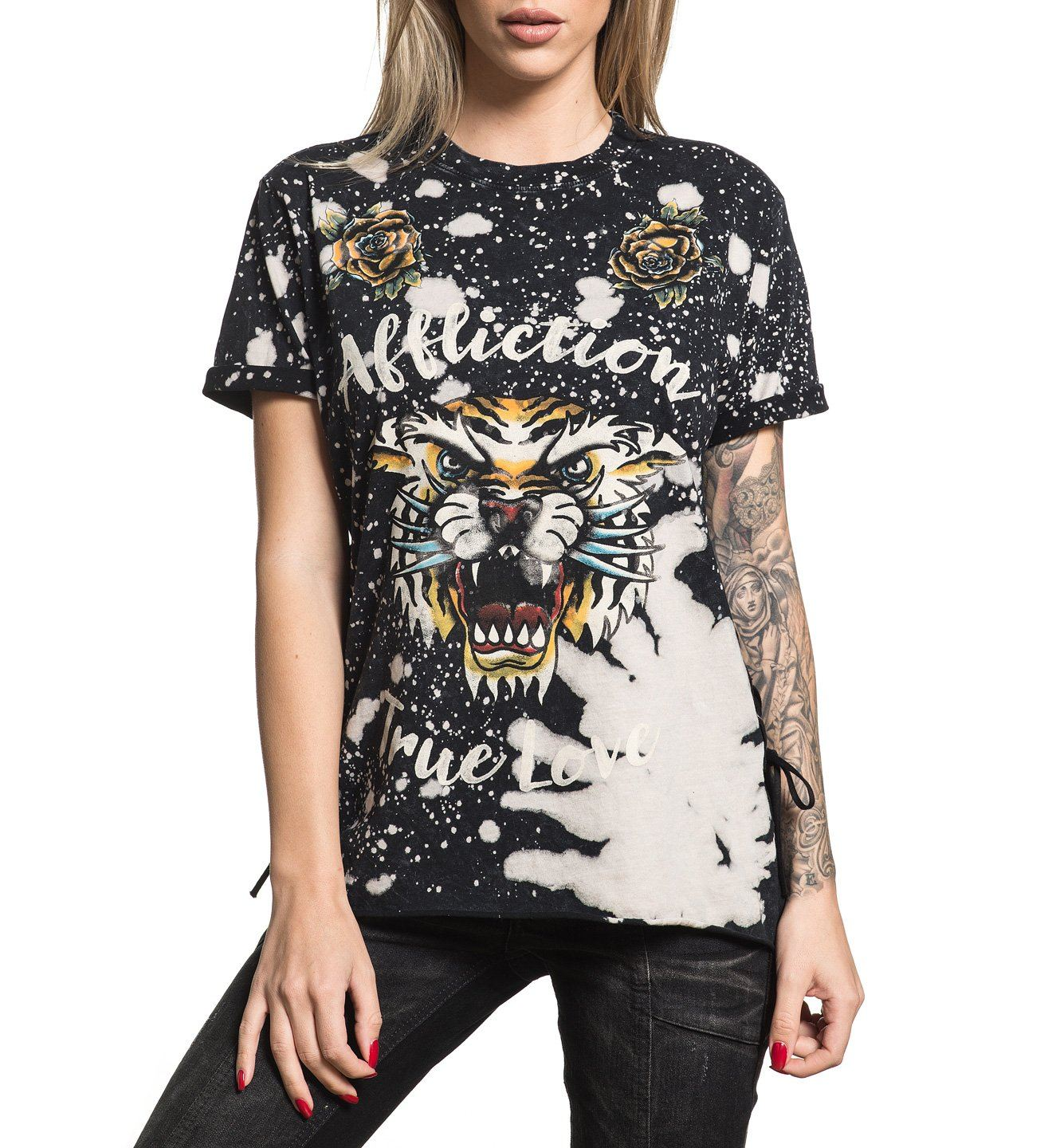 True Love - Womens Short Sleeve Tees - Affliction Clothing