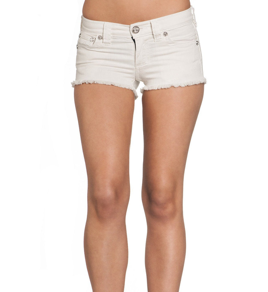 Womens Shorts And Boardshorts - Vikki Iris White Short