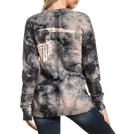 Headdress Paint - Womens Sweaters And Sweatshirts - Affliction Clothing